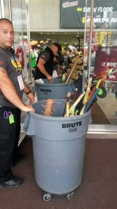 As you can see, NYCC is FULLY enforcing the weapons policy.